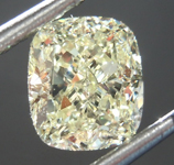 Loose Yellow Diamond: 1.32ct W-X VVS2 Cushion Cut Diamond GIA R7606