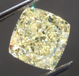 Loose Yellow Diamond: 4.12ct Fancy Yellow VS2 Cushion Cut Diamond GIA R7610
