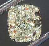 Loose Yellow Diamond: 1.01ct W-X VS2 Cushion Cut Diamond GIA R7607