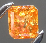 SOLD.......Loose Orange Diamond: .42ct Fancy Intense Brownish Orange I2 Radiant Cut Diamond R7613