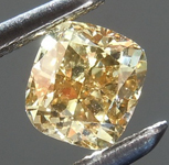 Loose Diamond: .50ct Fancy Deep Orange Brown VS1 Cushion Cut Diamond R7617