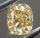 Loose Brown Diamond: .40ct Fancy Yellow Brown VS1 Cushion Cut Diamond R7618