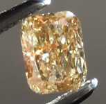 Loose Brown Diamond: .32ct Fancy Brownish Yellow VS1 Cushion Cut Diamond R7410