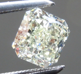 Loose Green Diamond: .83ct Fancy Light Yellowish Green SI1 Radiant Cut Diamond GIA R7635