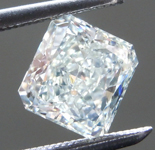 Loose Diamond: 1.07ct Fancy Light Yellowish Green SI2 Radiant Cut Diamond GIA R7636