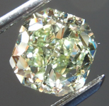 Loose Green Diamond: 1.41ct Fancy Yellow-Green SI1 Radiant Cut Diamond GIA R7640