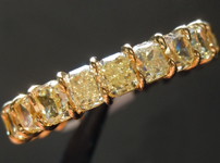 Diamond Ring: 5.14ctw Fancy Yellow VS Radiant Cut Diamond Band R7645