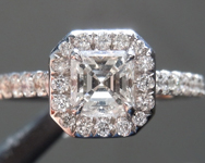 0.46ct G VS Asscher Cut Diamond Ring R7641