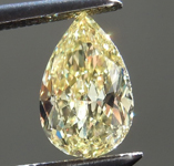 .63ct Intense Yellow SI1 Pear Shape Diamond R7637