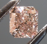 SOLD....Loose Diamond: .22ct Fancy Pinkish Brown SI1 Radiant Cut Diamond GIA R7612