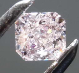 Loose Pink Diamond: .25ct Fancy Light Brown Pink I1 Radiant Cut Diamond GIA R7622