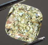 Loose Yellow Diamond: 2.87ct Fancy Light Yellow VVS2 Cushion Cut Diamond GIA R7667