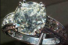 Semi Mount-Custom-made Platinum Double prong Antique Style