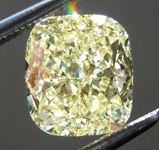 Loose Yellow Diamond: 2.02ct Fancy Intense Yellow VS2 Cushion Cut Diamond GIA R7692