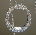 SOLD....Diamond Pendant: .52ctw H SI Round Brilliant Diamond Pendant R7478