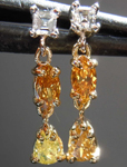SOLD........Diamond Earrings: .61ctw Natural Multi-Colored Diamond Dangle Earrings R7549