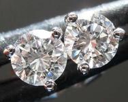SOLD.......Loose Colorless Diamond Earrings: .49ctw G VS Round Brilliant Diamond Stud Earrings R7687