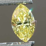 Loose Yellow Diamond:   .20ct Fancy Vivid Yellow VS2 Marquise Diamond GIA R7680