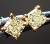 SOLD........Yellow Diamond Earrings: 1.48ctw Y-Z VS Radiant Cut Diamond Stud Earrings R7631
