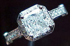 Semi-Mount- Solitaire Halo style with diamonds