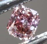 SOLD...Loose Pink Diamond: .18ct Fancy Pink Brown SI2 Radiant Cut Diamond GIA R7660