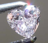 SOLD....Loose Purple Diamond: .21ct Fancy Pink-Purple I1 Heart Shape Diamond GIA R7672