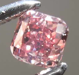 Loose Pink Diamond: .20ct Fancy Deep Pink I1 Cushion Cut Diamond GIA R7676