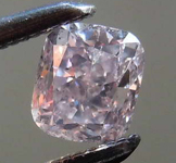 Loose Diamond: .39ct Fancy Brownish Purplish Pink SI2 Cushion Cut Diamond GIA R7677