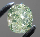 SOLD.........Loose Green Diamond: .42ct Fancy Green-Yellow I1 Cushion Cut Diamond GIA R7678