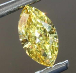 Loose Yellow Diamond: .27ct Fancy Green-Yellow VS2 Marquise Brilliant Diamond GIA R7681