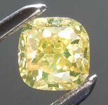 Loose Diamond: .51ct Fancy Brownish Greenish Yellow I1 Cushion Cut Diamond R7620