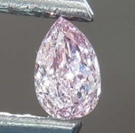 SOLD......Loose Pink Diamond: .12ct Fancy Purplish Pink Pear Shape Diamond GIA R7679