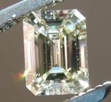 SOLD....Loose green Diamond: .57ct Fancy Light Brownish Greenish Yellow CHAMELEON Emerald Cut Diamond GIA R7704