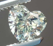 SOLD....Loose Diamond: .64ct Fancy Light Grayish Greenish Yellow VVS2 Heart Shape Diamond GIA R7698