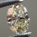 SOLD...Loose Yellow Diamond: .40ct Fancy Light Greenish Yellow VS2 Oval Brilliant Diamond R7739