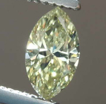 SOLD...43ct Fancy Greenish Yellow SI2 Marquise Diamond R7700
