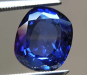 Sapphire Ring: 3.12ct Blue Cushion Cut Sapphire and Diamond Ring Currently In Production  R7759