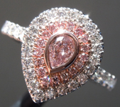 Loose Pink Diamond: .17ct Fancy Brownish Purplish Pink SI2 Pear Shape Cut Diamond GIA R7758