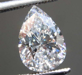 SOLD...  1.28ct D SI2 Pear Diamond GIA R7762
