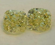 SOLD........1.01ctw Fancy Yellow VS Cushion Cut Diamond Earrings GIA R7778