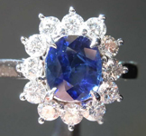 SOLD........1.49ct Blue Oval Sapphire Ring R7029