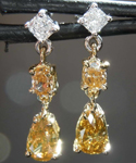 SOLD... 1.08ctw Natural Fancy Colored Diamond Earrings R7599