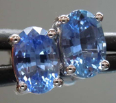 SOLD.....1.19ctw Blue Oval Sapphire Earrings R7765