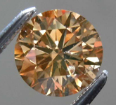 Loose Brown Diamond: 1.24ct Fancy Deep Orangy Brown SI2 Round Brilliant Diamond R7709