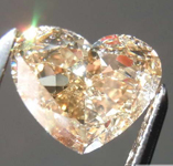 SOLD......1.01ct Fancy Brown Yellow VS1 Heart Shape Diamond GIA R7814