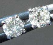 .71ctw Fancy Gray I1 Round Brilliant Diamond Earrings R7773