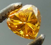 .22ct Fancy Intense Orange-Yellow SI2 Heart Shape Diamond GIA R7799