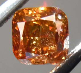 0.40ct Dark Orangy Brown SI2 Cushion Cut Diamond GIA R7803