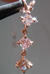 Diamond Pendant: .71ctw Natural Pink Radiant Cut Three Stone Diamond Pendant R7750