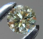 .08ct Fancy Grayish Yellowish Green Chameleon Round Diamond GIA R7796